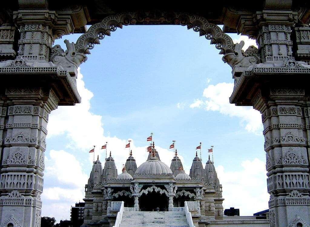 Vedere Londra tempio Indù